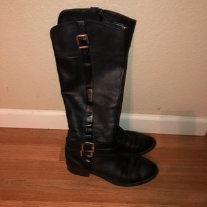 Black INC Leather Boots.
